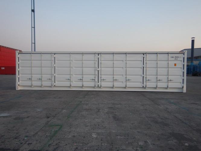 Width 2438MM Side Opening Shipping Container 40ft High Cube Steel Floor
