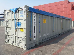 China Durable Side Loading Shipping Containers , Open Shipping Container for Waste Material supplier