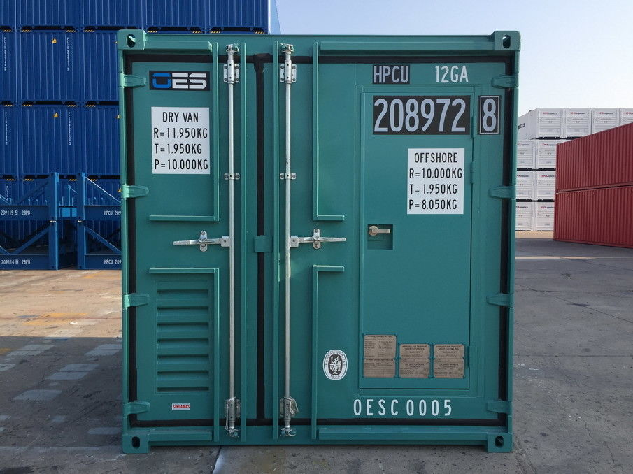 Offshore Small Shipping Containers With Man Door Dnv Standard 10 Foot Steel Floor