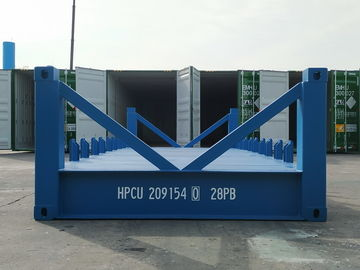 China Special Shipping Container Platform 20 Foot Frame Half Height Blue Industrial distributor