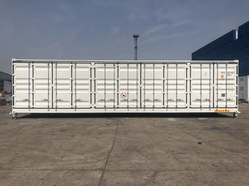 China 40ft Side Open Equipment Shipping Containers Sandwich Panel Rock Wool Insulated factory