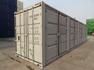 China 40ft High Cube Side Opening Shipping Container With Four Doors Height 2896MM distributor