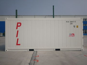 China 20ft Standard Refrigerated Cargo Container , White Cold Storage Container distributor