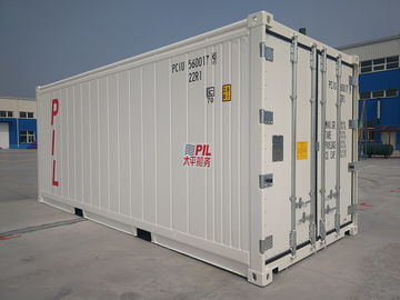 China White Standard Freezer Shipping Containers , 20ft Reefer Shipping Container factory