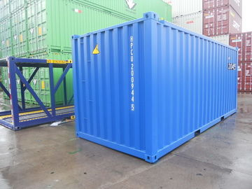 China 20 Foot Steel Shipping Containers , DNV Standard Shipping Container Custom Color factory